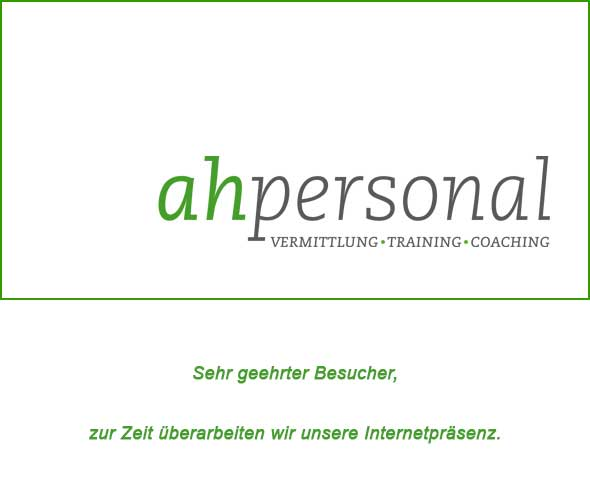 ahpersonal | Anett Herbig | Dachritzstra�e 9 | 06108 Halle/ Saale